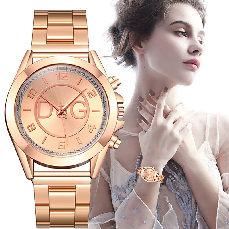 Fashion Women Female Quartz Watch Luxury Business Dial Steel Belt Watches Ladies Causal Dress Wrist Watch Thanksgiving Gift