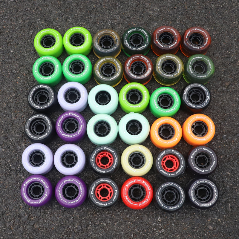 Clearance Promotion 4Pcs Skateboard High Elasticity Silence Wheels Small Fishboard Double Warp Shock Absorption Speed 72mm 65mm