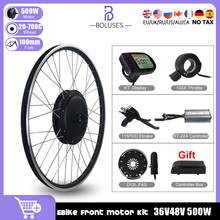 36V48V 500W MTB EBike Conversion Kit eBike Brushless Front Hub Motor Wheel For Electric Bicycle Bike Conversion Kit With LCD