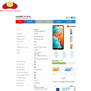 Image 3 - 10 pz/lotto Dello Schermo di Tocco Per Huawei Y6 Prime 2019 Sensore Touch Panel Digitizer Anteriore In Vetro Esterno Touchscreen NO LCD Y6 pro 2019
