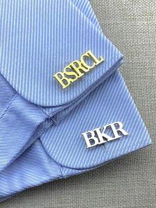 Cufflinks Custom Shirt Buttons Gifts Engraved-Initials Name Wedding Personalized Mens