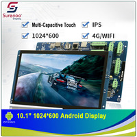 10.1 1024X600 Android Industrial Grade WIFI 4G IPS TFT LCD Module Display Screen with w/ Multi Capacitive Touch Panel
