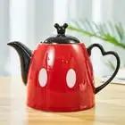 1200ml Disney Mickey Cartoon Kettle Coffee Milk Tea Breakfast Ceramic Kettle Home Office Heat Resistant Gourmand LB010610