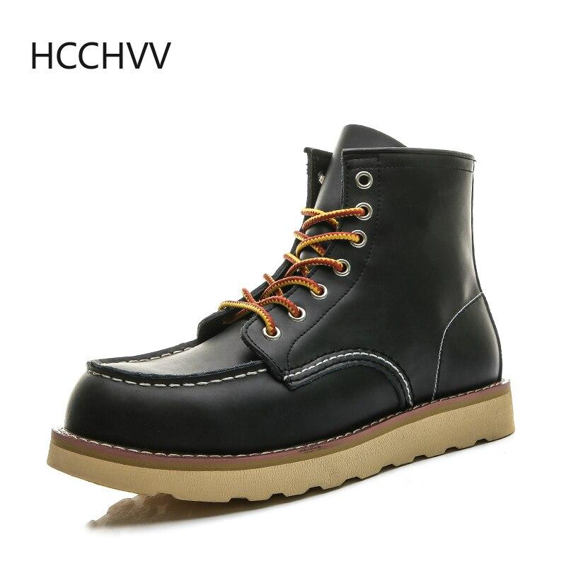 Rouge noir hiver hommes chaussures désert bottes garder au chaud Vintage Culture ailes recrue hommes bois bottes moto bottes Western