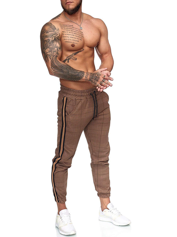 9Kinds Of Color NEw Casual Plaid Ankle-Length Pants Men Trousers Hip Hop Jogger Pants Men Sweatpants Japanese Streetwear Men Pan