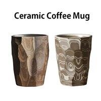 280 мл Ручная работа керамическая кофейная кружка ретро Молоко пиво чай чашка для питья воды персонализированные офисные стаканы посуда для ...