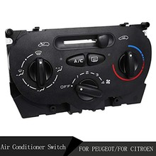 Air AC Heater Panel Climate Control Switch for Peugeot 206 207 307 C2 Citroen Picasso 9624675377 X666633H(China)