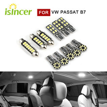 11pcs SMD LED lights indoor Car CANbus lighting for Volkswagen VW Passat B7 complete set bulbs
