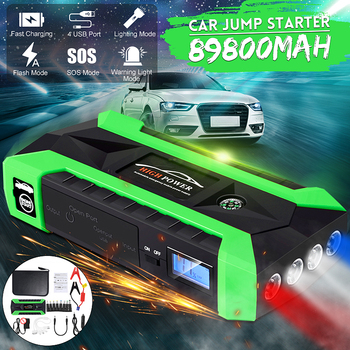 89800mAh Multifunction Jump Starter 4 USB 4 LED Lights Portable Power Bank Car Battery Booster Charger Starting Device