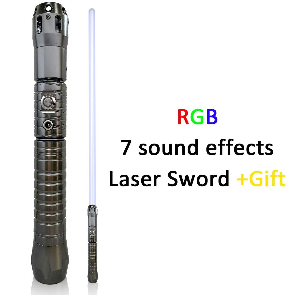 Original Movie Sound Effects Jedi Lightsaber Metal Handle Blaster Laser Sword Automatic 11Color Changing Light Saber Gift