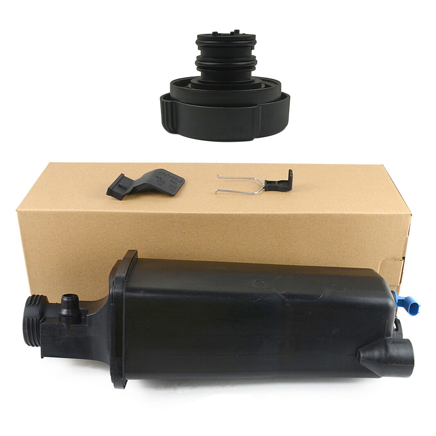 AP03 17117573780 <font><b>Coolant</b></font> Expansion Tank w/ Cap w/ <font><b>Sensor</b></font> for <font><b>BMW</b></font> 3er E46 X5 E53 316Ci 316i 318d 320d image