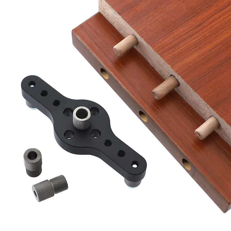 Dowel JIG สำหรับ 6 8 10mm ข้อต่อเจาะปรับคู่มือ JIG อลูมิเนียมเจาะเครื่องมือสำหรับช่างไม้