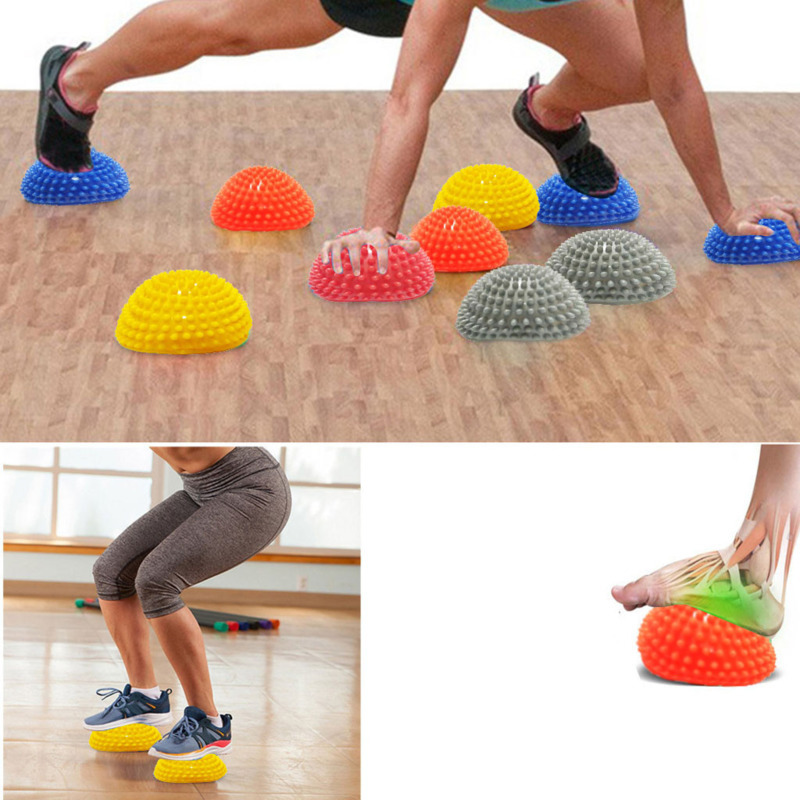 Yoga Pilates Fitness Half Ball Balancing Point Ball For Children Adult Exercise Stepping Stones Pods For Gym Pilates Sport Toy