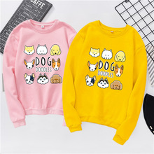 Fashion Women shirts Autumn Spring Streetwear animal Dog shirt Long Sleeve t-shirt for women Couple S-XXXL