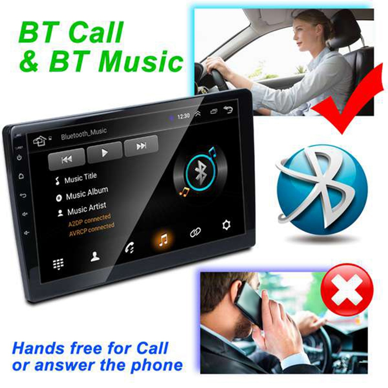 2 Din 9 Zoll Android 8.1 Universal Auto Radio Doppel Din Stereo GPS Navigation in Dash Video WIFI USB Bluetooth Auto radio Multime