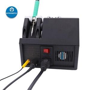 Image 5 - Jabe UD 1200 الرصاص سبيكة لحام محطة هاتف محمول PCB بغا أداة لحام 2.5S السريع التدفئة المزدوج قناة لحام أداة