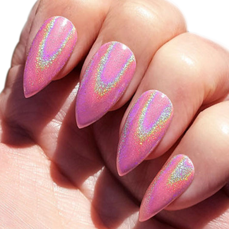 Image 5 - Holographic Nail Glitter Powder Laser Dipping Sequins Pigment Nail Art Gradient Mirror Chrome Dust Shining Polish Flake BE1028 2-in Nail Glitter from Beauty & Health