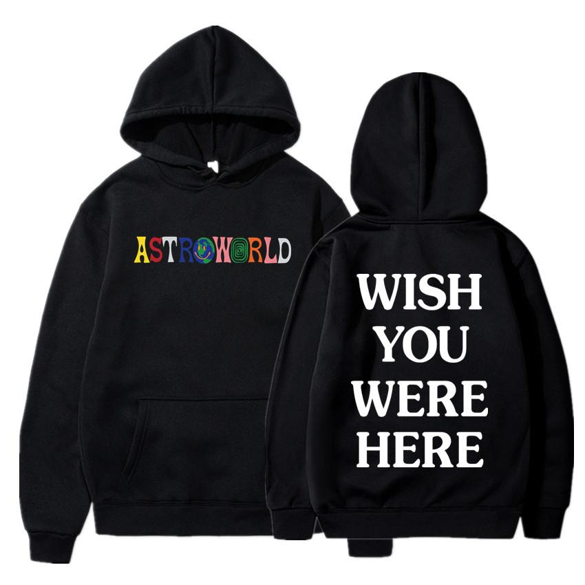 TRAVIS SCOTT ASTROWORLD WISH YOU WERE HERE HOODIES fashion letter ASTROWORLD HOODIE streetwear Man woman Pullover Sweatshirt 1