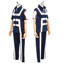 JP Anime Boku no Hero Bakugou Katsuki/Iida Tenya/Todoroki Shouto Cosplay Costume My Hero Academia Sportswear Tops+Pants