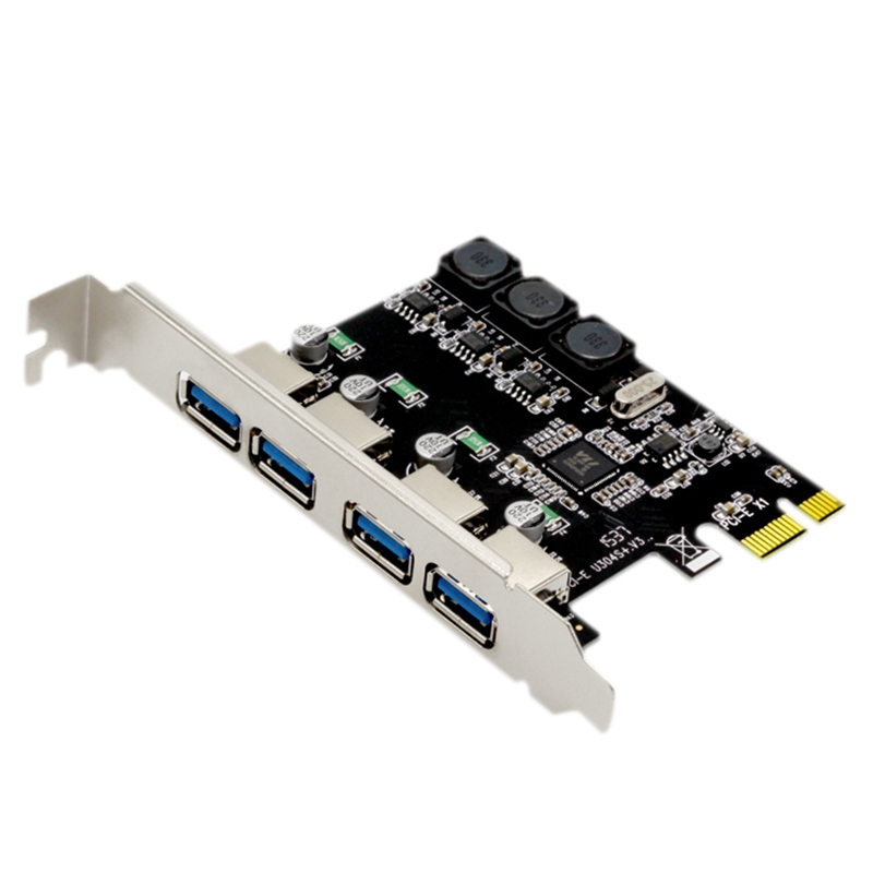 4 Port Usb 3.0 Pci Express Expansion Card Pcie Pci-E Usb 3.0 Host Controller 4 X Usb3.0 Usb 3.0 Add On Card Expansion Cards