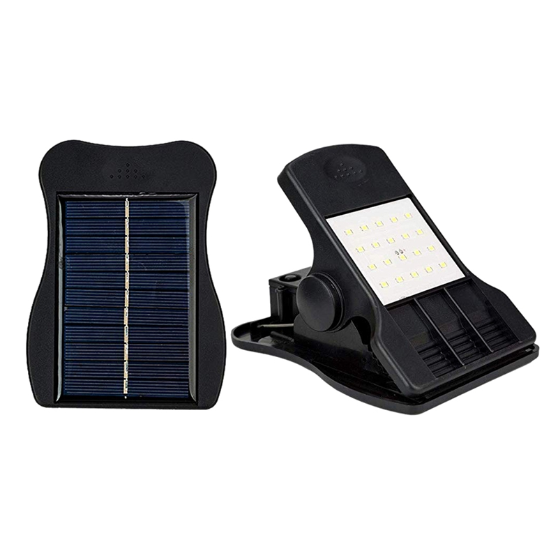 ABUI-20 Led Solar Lights Outdoor Mini Solar Clip Light Waterproof Solar Wall Light For Patio Deck Garden Garage