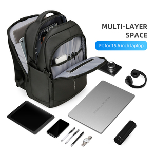 Image 2 - Mark Ryden 2020 Man Backpack Multifunctional Waterproof 15.6inch Laptop Multi layer Pockets Bag Man USB Charging School Backpack