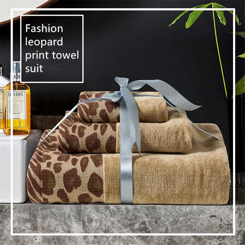 Сексуальное банное полотенце из хлопка с леопардовым принтом, набор роскошных банных полотенец для ванной комнаты, гигантское пляжное поло