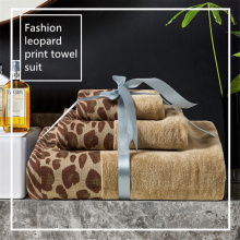 Sexy Leopard Printed Pakistan Cotton Bath Towel Set Luxury Hand Towels Bathroom Giant Beach Towel For Adults Home Gift Men Women