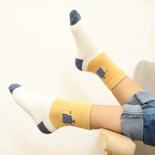 купить 5 Pair New Autumn Baby Girl Boy Socks 1-5T Cute Toddler Kids Warm Socks Cute Striped Print Soft Sock Cotton Leg Warmers #m по цене 265.08 рублей