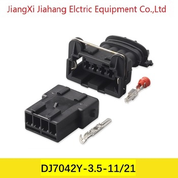 Freeshipping 200sets DJ7042Y-3.5-11/21 4Pin AMP Car Electrical Wire Connectors