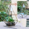 Многоугольные цветочные горшки  металлические стеклянные настольные горшки  декоративные нестандартные геометрические вазы  декор для са...