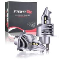 KAFOLEE-Bombillas de luz LED H4 para faros de coche, lámparas de diodo LED de 16000 lúmenes, 12 y 24V, 80W, luz LED de carretera para coche, H4 9003 HB2