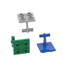 2x2 aeronaves frente twin eixos blocos de construção peças diy monta partículas presente educacional crianças brinquedos frete grátis