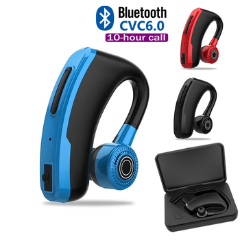 Car Wireless Earphone V10 Business Bluetooth Headphone Fast Charging Driver Handsfree Earphone with Mic Voice command for Iphone