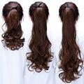 Длинная накладка на волосы синтетические удлинители с зажимом синтетические волосы хвост длинные волнистые искусственные волосы