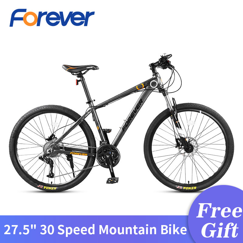 FOREVER 30 Speed Mountain Bicycle 27.5 in Fat Tyre Cycle Variable Speed Road Bikes Racing Bicycles 3 Finger Hydraulic Brake MTB|Bicycle| |  - title=