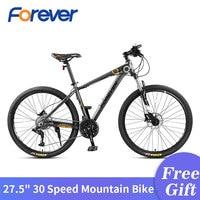 Para sempre 30 velocidade bicicleta de montanha 27.5 em ciclo de pneus gordura velocidade variável bicicletas estrada corrida bicicletas 3 dedo freio hidráulico mtb|Bicicleta| |  -