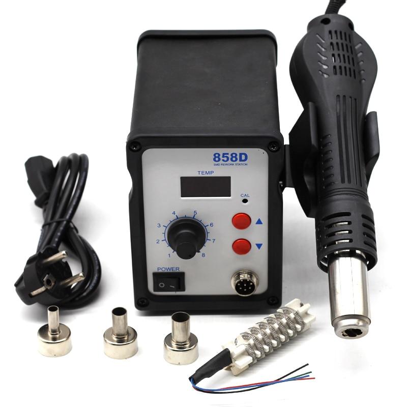 Pistolet à chaleur pistolet à Air chaud SMD BGA Station de soudure à souder sèche-cheveux industriel souffleur de chaleur outil de soudage à dessouder 858D 220V