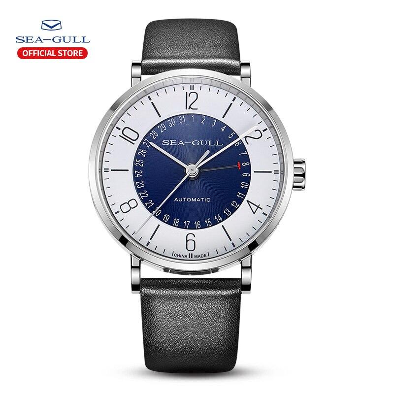 Seagull Men And Women Watch Fashion Personality Mechanical Watch Calendar Waterproof Leather Couple Watch 819.97.6052