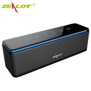 ZEALOT S7 мощный портативный bluetooth-динамик, сабвуфер Hifi, домашний кинотеатр, звуковая аудиосистема, Беспроводная колонка s с поддержкой TF-карты