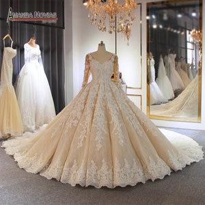 Image 1 - งานแต่งงาน 2020 แชมเปญหรูงานแต่งงานชุดยาวรถไฟดูไบ