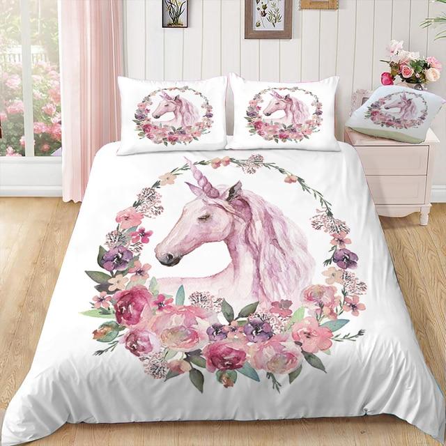 3D Unicorn Printed Bedding Sets 2