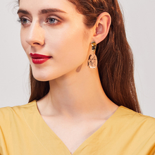 Europe and the United States exaggerated personality earrings female simple fashion trendy red face thin earrings tassel europe and the united states simple fashion men and women smooth face earrings cross shaped retro silver gold cross earrings