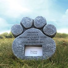 Pet Memorials Stone Dog Paw Shaped Tombstone Pet Remembrance Mark Realistic Outdoor Pet Grave Stone Memorial Stone Pet tombstone