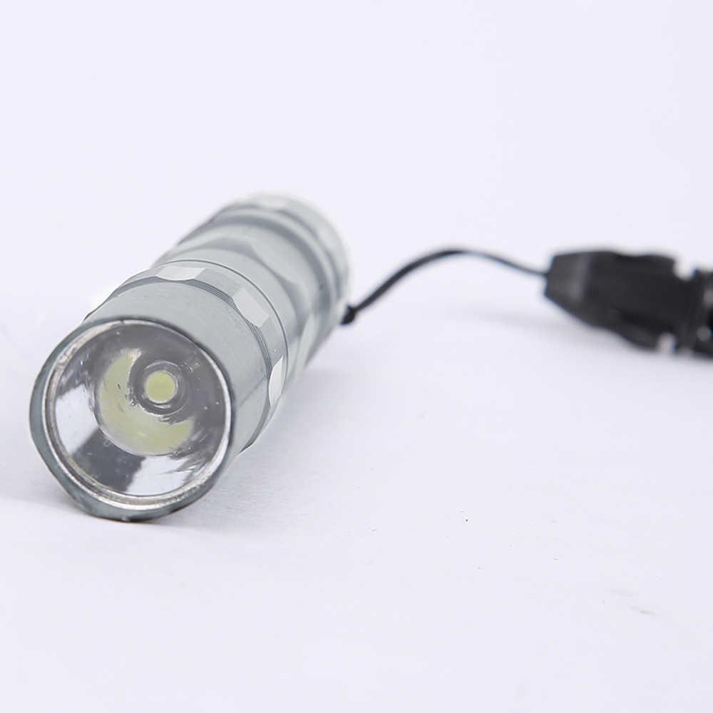 Brelong de alta potência mini lanterna led à prova dwaterproof água chaveiro levar acampamento ao ar livre lanterna tática luz