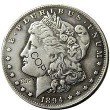 Монеты США 1894-S, цвет Морган, фотомонеты, посеребренные