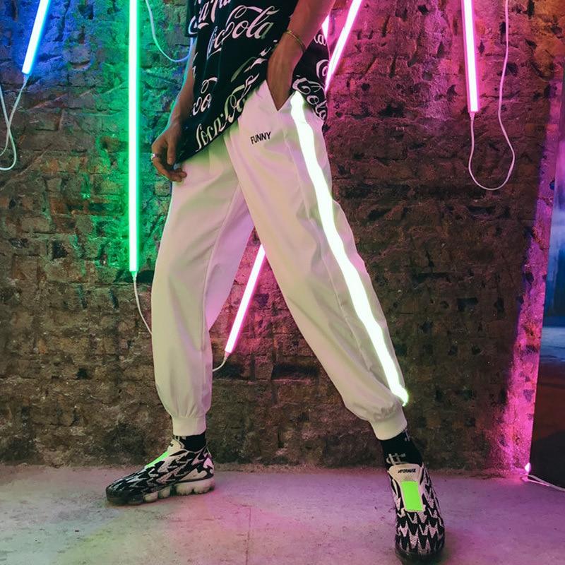 Hip Hop Ankle Banded Pants Sub-Men's Trend Fan Guang Ku INS Super Fire Loose Casual Sports Pants Summer Harem Pants