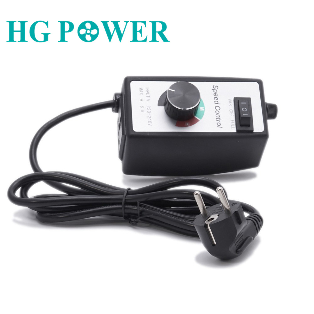 EU Uk Standard 10A 220V Variable Controller For Inline Duct Fan Current Pump Motor Speed Control Dimmer Speed Adjustment For Fan
