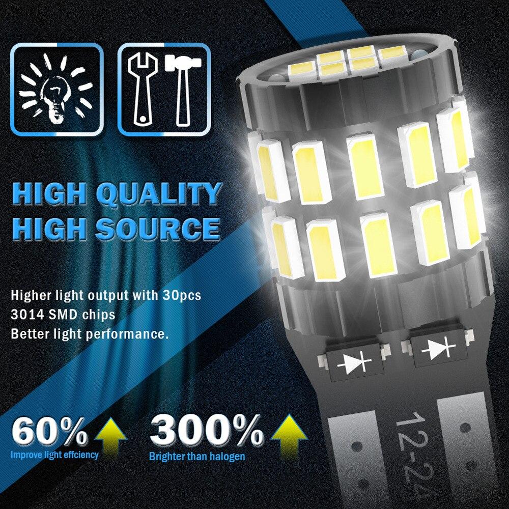 Image 4 - 10pcs T10 LED Canbus Bulbs For BMW E90 E60 White 168 501 W5W LED Lamp Wedge Car Interior Lights 12V 6000K Red Amber yellow BlueSignal Lamp   -