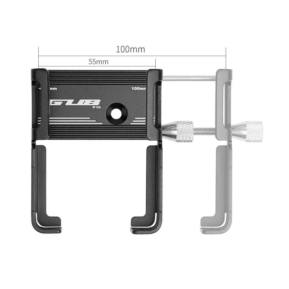 Велосипедный держатель для телефона GUB P10, кронштейн из алюминиевого сплава, подставка для мотоцикла и велосипеда, крепление на руль, зажим для 55-100 мм